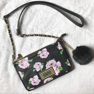 Betsey Johnson Floral Crossbody Purse/Wallet